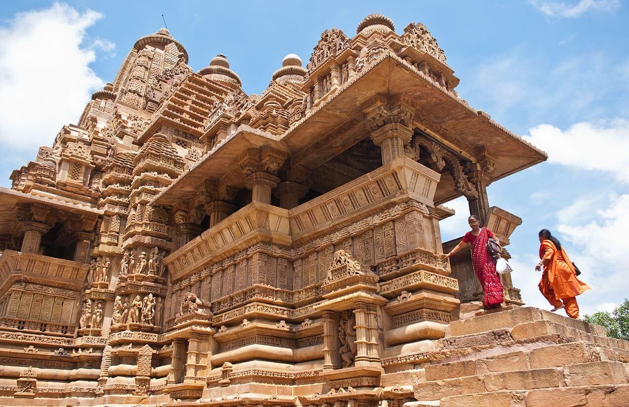Entrance to the Mandapa, Lakshmana Temple, Khajuraho, Chhatarpur District, Madhya Pradesh, India