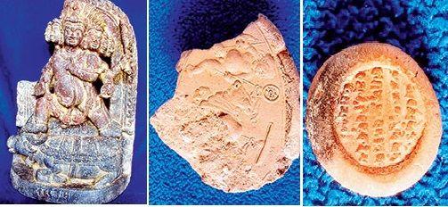 Artefacts found at Telhara University