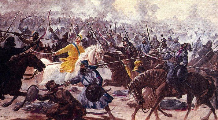 Battle between Sikhs and Mughals