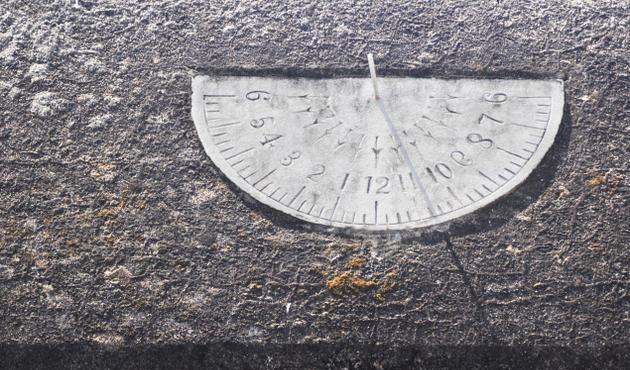 Sun Clock at Sivayoginathar temple in Tamil nadu