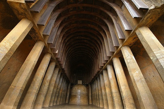 Chaitya (monastic monument hall) at Bhaja