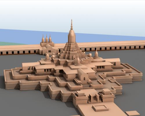A Model of Somapura Mahavihara by Mohammed Ali Naqi. -Image Source