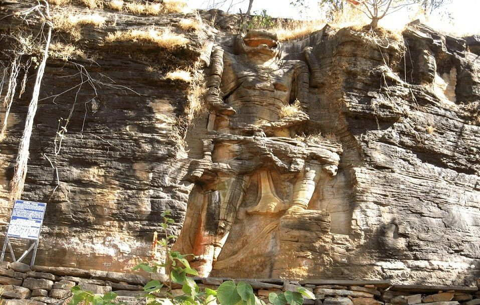 Rock Cut Mountain Statue of Lord Narasimha