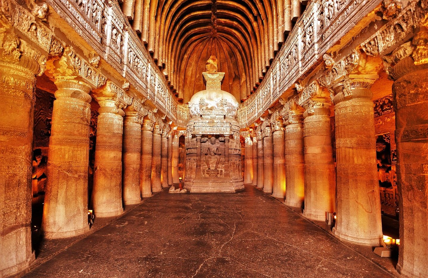 Top 15 Rock cut structures: Ajanta Caves Caves, India