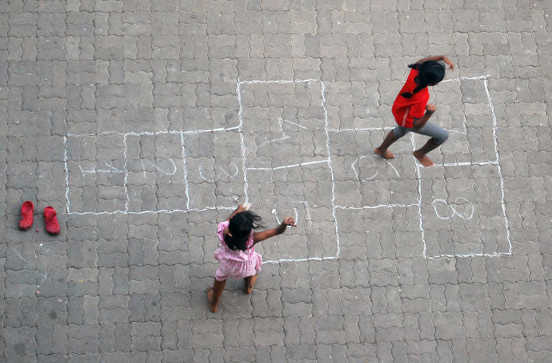 traditional indian game Hopscotch