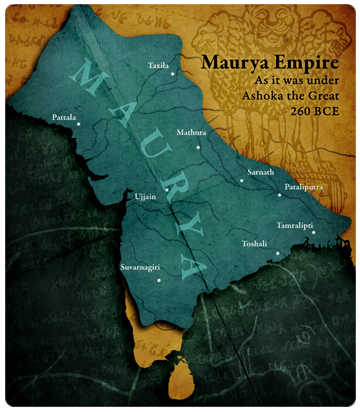 Maurya Empire Map