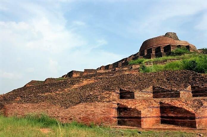 Ruins of Kesaria Stupa, India