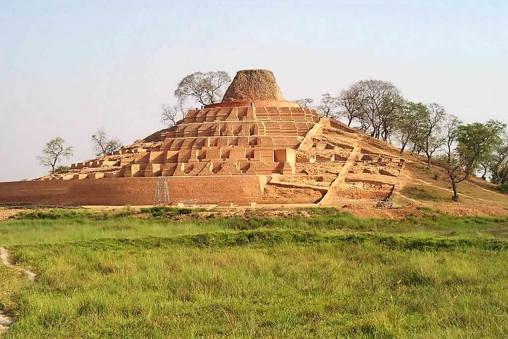 One of the World's Tallest ancient Buddhist Stupa, Kesaria, India