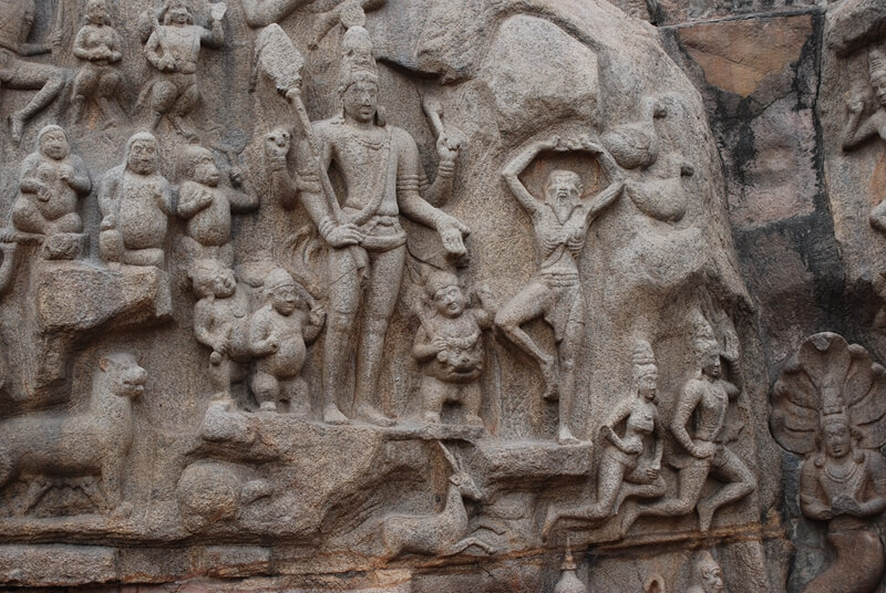 Shiva and Arjuna (?), Descent of the Ganges or Arjuna's Penance, 7th-8th century, Mamallapuram, Tamil Nadu, India