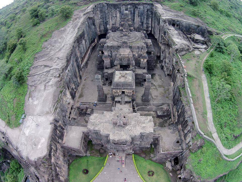 Air View of Kailash Temple, Ellora