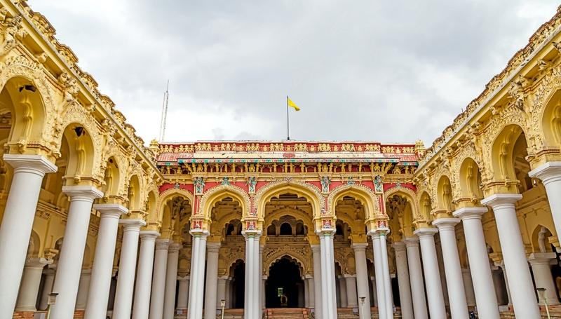 Thirumalai Nayakkar Mahal palace in Madurai, Tamil Nadu, India