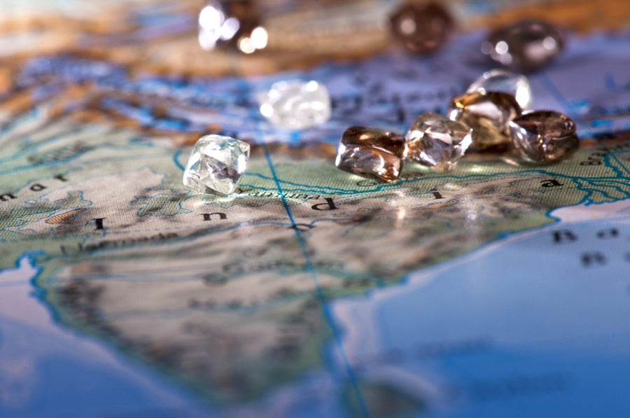 The diamonds have been first recognized and mined in India